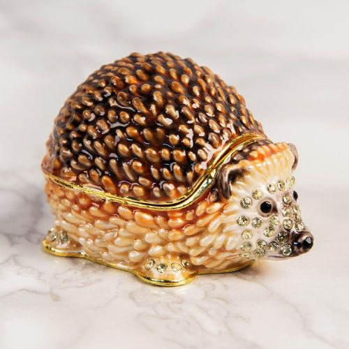 Hedgehog Trinket Box Gift - Treasured Trinkets Collectibles by Juliana